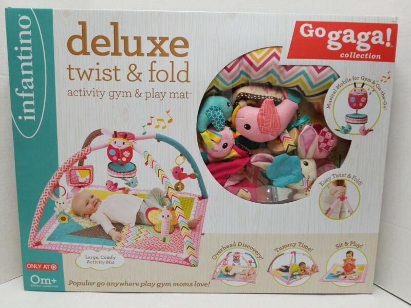 Go Gaga Discontinued Twist & Fold Activity Gym Play Mat Baby Musical Infantino