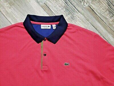 Lacoste Polo Shirt Short Sleeve Pink Green Men's 4XL (9) Regular Fit Watermelon