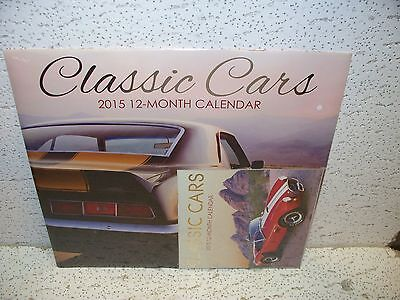 Classic Cars 2015 12 Month Calendar Gm Chevy Ford Mustang Cobra Gto Camaro 69