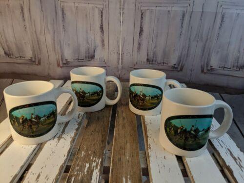 vtg vintage ralph lauren mug cup coffee tea set polo horses equestrian 12 oz set