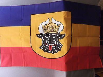 Fahne Mecklenburg, Größe 90cmx 150cm, 100% Polyester gebraucht