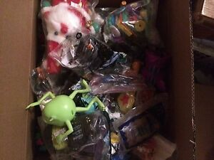 Huge box of approximately 233 toys