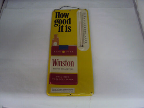 """VINTAGE ADVERTISING WINSTON CIGARETTES 13"""" THERMOMETER     S-484"""