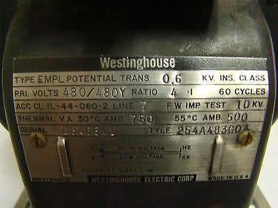 1pc. Westinghouse 254a483g04 Empl Potential Transformer Used