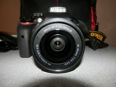 Nikon D3300 DSLR Camera with AF-P DX 18-55 VR Lens - Black