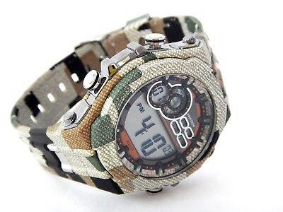 Mens Armitron Camo Green Chronograph Resin Military Watch -