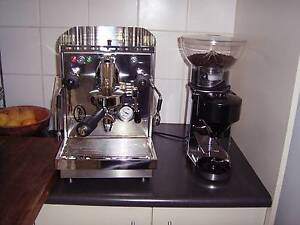 Fiorenzato Bricoletta  Coffee Machine with Grinder ,Tamp & Acc North Geelong Geelong City Preview