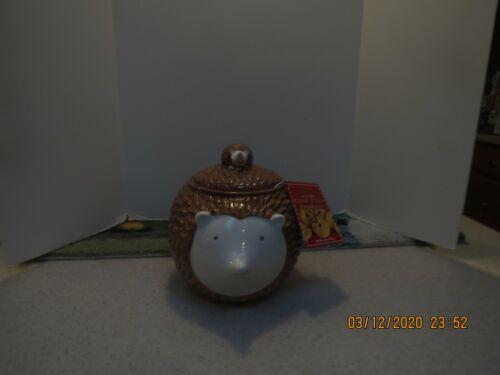Ceramic Hedgehog Cookie Jar Canister