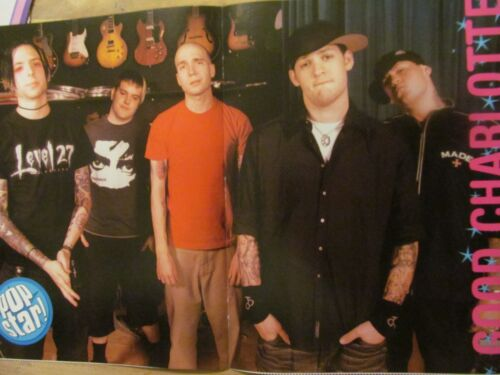 Good Charlotte, Ashlee Simpson, Double Two Page Centerfold Poster