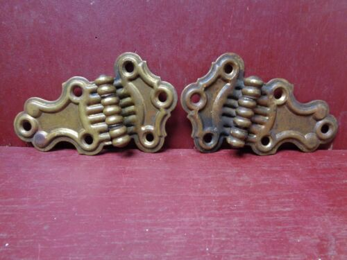 "ANTIQUE - VINTAGE SOLID BRASS 4 3/8"" X 2 3/4"" OFFSET HINGES #0"