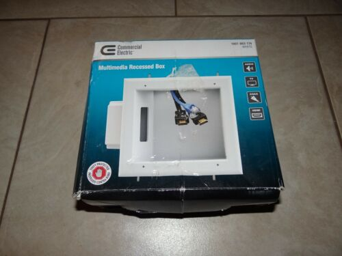 TV Multimedia Recessed Box Made by Commercial Electric