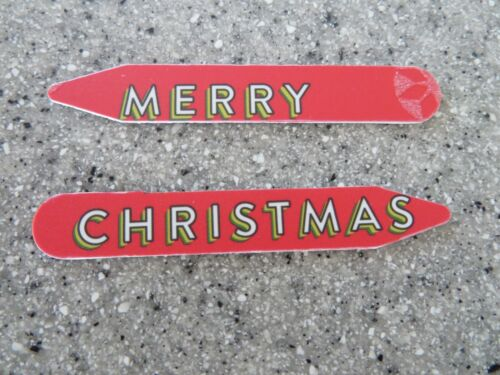 MERRY CHRISTMAS custom collar stays from a Nordstrom gift card for dress shirts