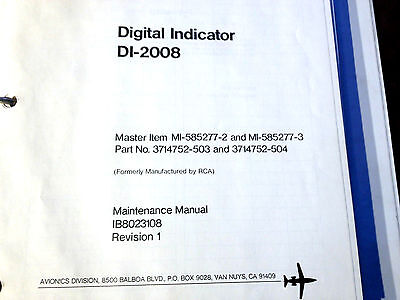 Service Indicator Manual - Sperry DI-2008 Radar Indicator Service Manual