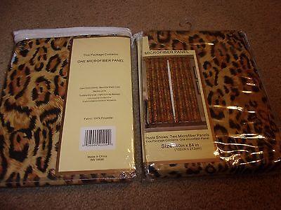 Leopard Print Microfiber Cotton Curtains 2 panels 84