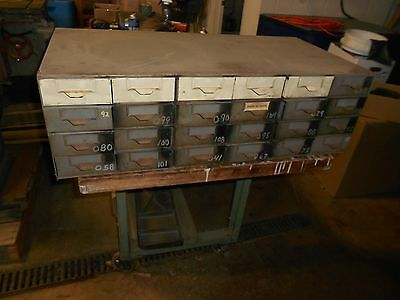 VTG Lyon Aurora IL 24 Drawer Industrial Small Parts Steel Metal Storage Cabinet