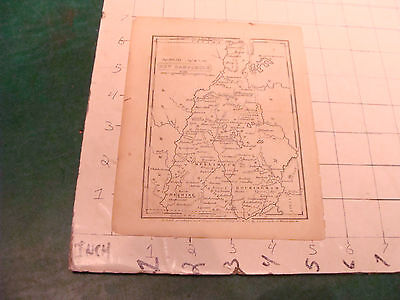 vintage Original New Hampshire small MAP, undated, early S.S. GOODRICH