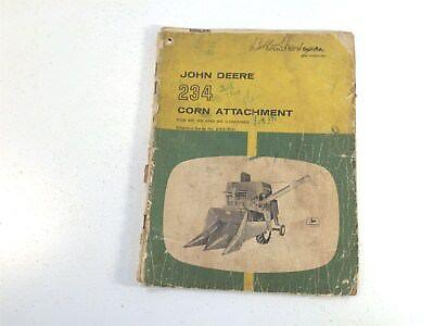 John Deere 234 Corn Attachment For 45 55 95 Combines Op Manual Om-n159029