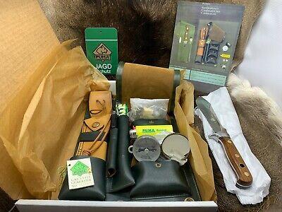 1982 Puma 52 6392 Survival Knife Set Jacaranda Handles & Accessories Mint In Box