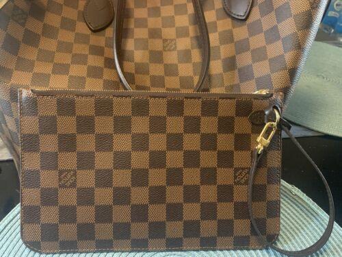 Authentic Louis Vuitton Damier MM Neverfull Pochette