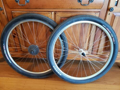 "Shimano XT Wheelset, Hubs, Gold Mavic rims, 26"" mtb bike"
