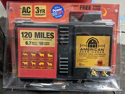 American Farm-works 120 Miles Ac-powered Electric Fence Controller Brand New