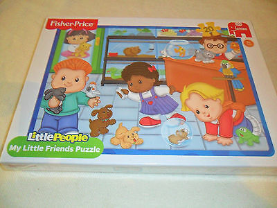 FISHER PRICE JUMBO LITTLE PEOPLE 20PIECE JIGSAW PUZZLE FRIENDS KIDS TODDLER BABY