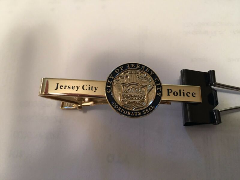 Jersey City Police tie bar