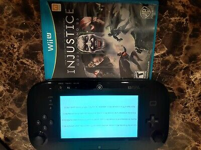 Original Nintendo Wii U Black Replacement Gamepad with Injustice God Among Us