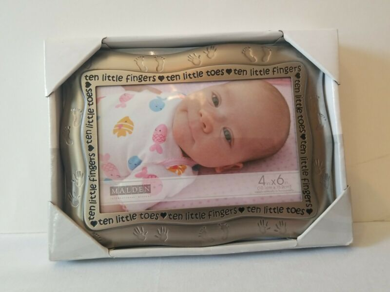 Malden international Designs Ten Little Fingers Baby Picture Frame