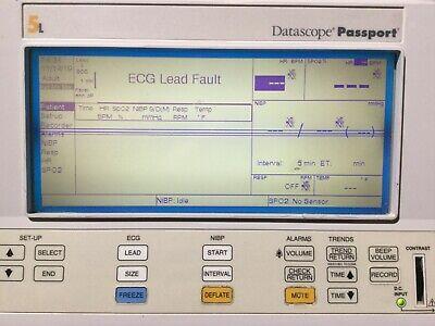 Datascope Passport Xg Patient Monitor - W Power Supply 0998-00-0126-04