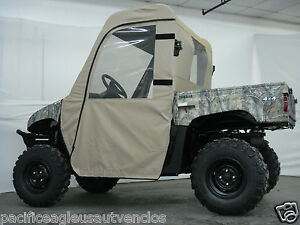 FULL-CAB-Enclosure-w-Clear-Lexan-Windshield-Yamaha-RHINO-New-UTV-6-Colors