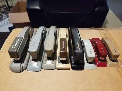 Lot Of 8 Vintage Metal Swingline Hand Held Staplers