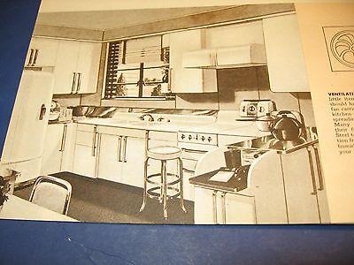 Art deco Home Planning Vintage Catalog 4 Lot Steel Kitchens Iron Hardwear Fans