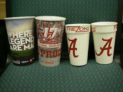 4 Alabama Football Stadium Cups from Bryant Denny National Champions Alabama Bryant Denny Stadium
