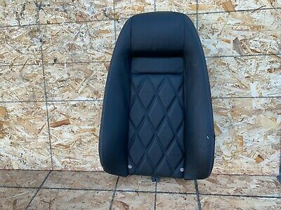 BENTLEY CONTINENTAL GT (04-10) REAR LEFT SEAT UPPER TOP LEATHER BLACK OEM