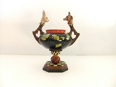 Vintage House of Hatten Peggy Fairfax Herrick Fox and Hare Checkered Bowl