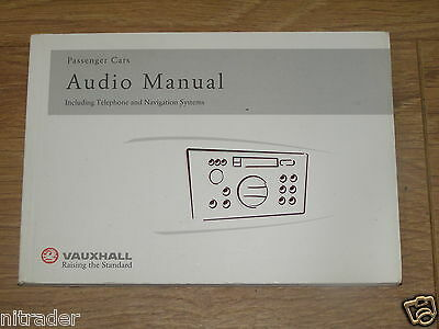 Genuine Vauxhall Audio System Handbook inc Telephone & Navigation Systems
