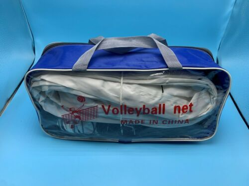 Outdoor Volleyball Net W/ Steel Wire Rope Training w/ Storage Bag 32 FT x 3FT