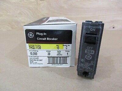 Box Of 10 Ge Thql1130 Circuit Breakers 30 Amp 1 Pole 120240 Volt