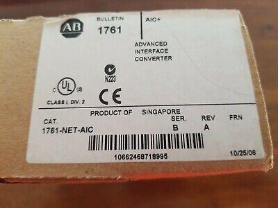 New Allen Bradley Micrologix And Slc Communication Adaptor 1761-net-aic Ser. B