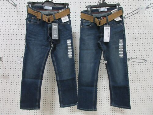2 LEE DUNGAREES BOYS KIDS YOUTH PANTS JEANS CLOTHES SLIM 10 R BELT STRAIGHT LEG