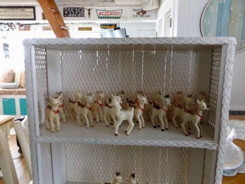 Lot of 18 Vintage Rosbro Plastic Rudolph Reindeer Christmas Ornaments