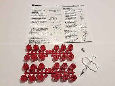 Hunter Irrigation PGP RED Nozzle Kit- 2 Nozzle Racks, Hex Screw, Key, Guide