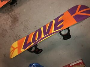 Burton Love Snowboard with Burton Genesis Bindings.