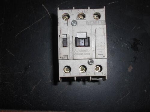 AUTOMATION DIRECT GH15ET, CONTACTOR  110-120V COIL, 3-POLE