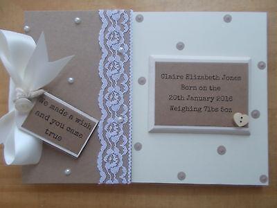 Personalised New Baby Scrapbook Photo Album Memory Book Gift QUICK POSTAGE