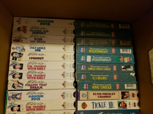 Elvis Presley VHS Tapes Lot Of 48 Brand New Sealed Incredible Collection RARE - $19.99