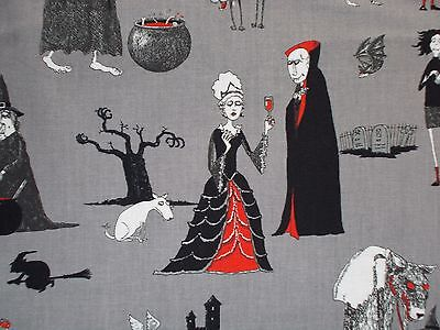 Halloween Fabric Oddities Elizabeth's Studio 4405 Quilting Cotton FQ, BTHY, BTY