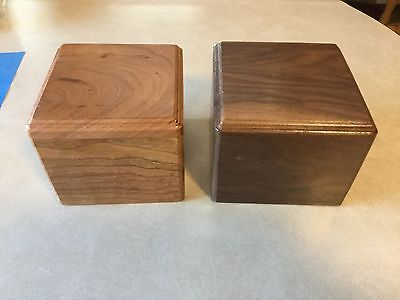 Cherry, Oak ,Maple ,Red Cedar & Walnut Pet cremation urns buying 1