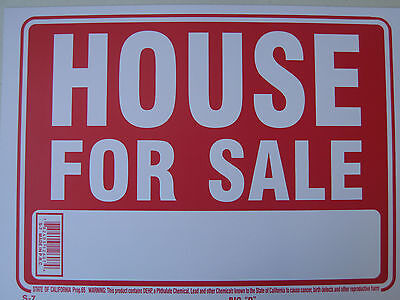 House For Sale  Sing Plastic Sign    12  X 9   12607 New